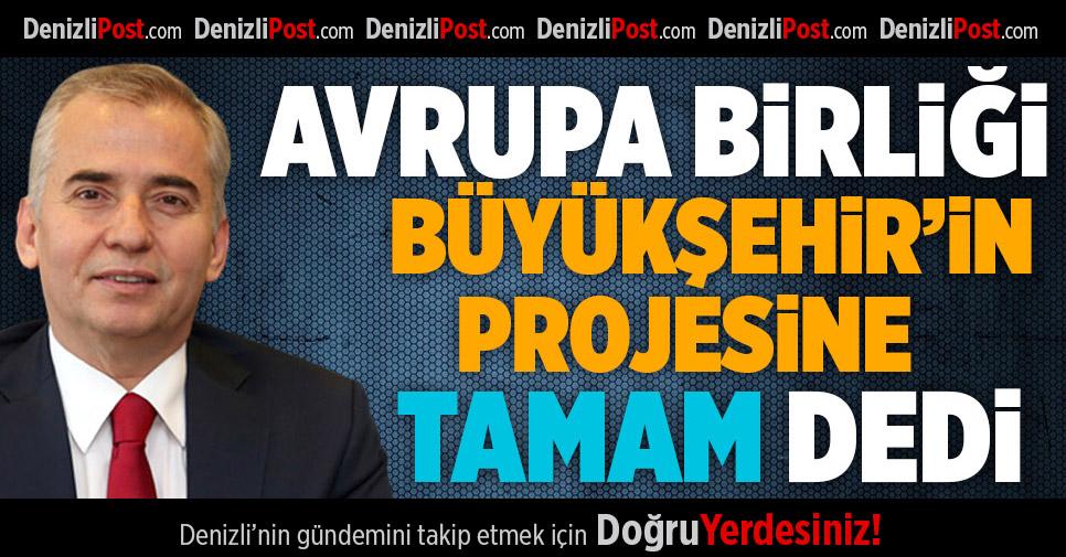 AB Büyükşehir'in Projesine 'Tamam' Dedi