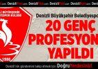 Denizli Büyükşehir Belediyespor'da 20 genç profesyonel yapıldı
