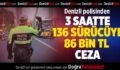 Denizli Polisinden 136 Sürücüye 86 Bin TL Ceza
