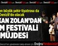 Ege'nin en büyük şehir tiyatrosu Denizli'de olacak