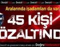 Denizli'de 45 kişi gözaltına alındı