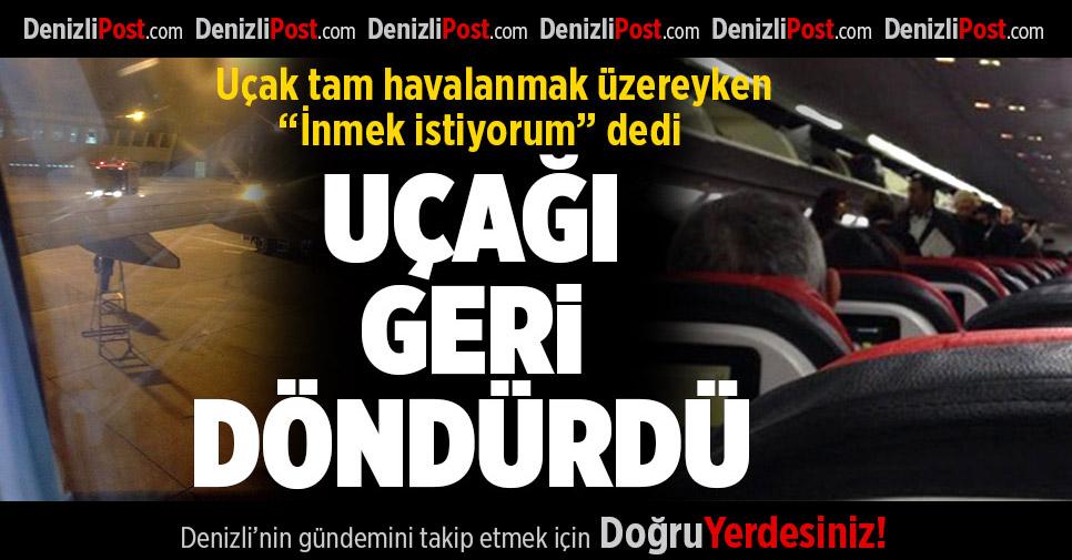 Denizli-İstanbul Uçağı Pistten Geri Döndü