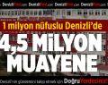 1 Milyon Nüfuslu Denizli'de 4,5 Milyon Muayene