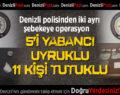 Denizli polisinden iki ayrı şebekeye uyuşturucu operasyonu