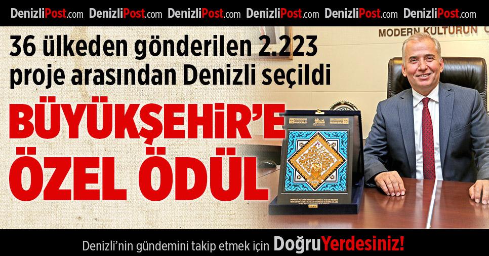 Denizli'ye Türk Dünyası Şehircilik Özel Ödülü