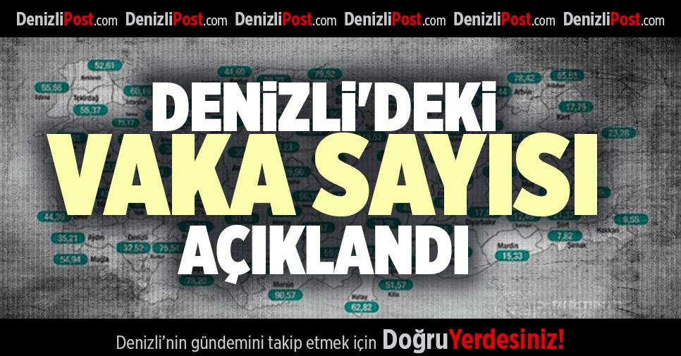 DENİZLİ'DEKİ VAKA SAYISI AÇIKLANDI