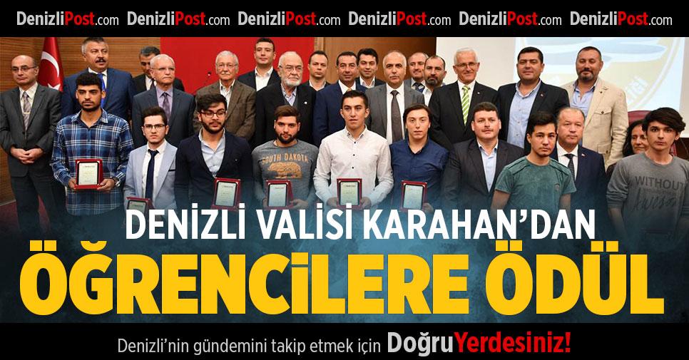 Denizli Valisi Karahan'dan Öğrencilere Ödül