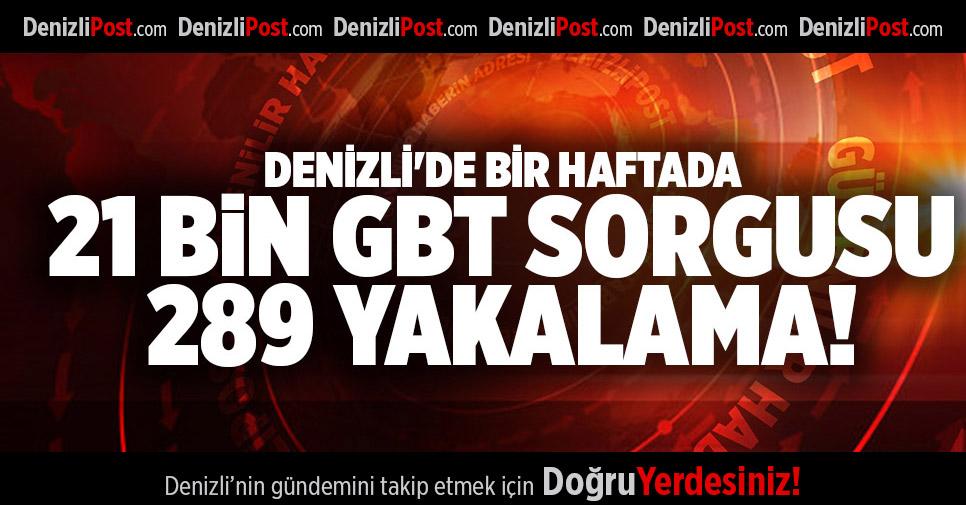 DENİZLİ'DE BİR HAFTADA 21 BİN GBT SORGUSU 289 YAKALAMA!
