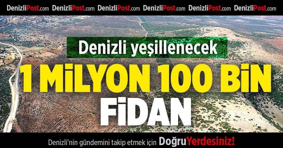 Denizli'de 1 milyon 100 bin fidan toprakla buluşacak