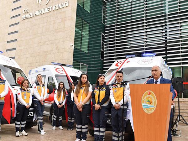denizlide 7 ambulans hizmete girdi 6728 dhaphoto1 - Denizli'de 7 ambulans hizmete girdi