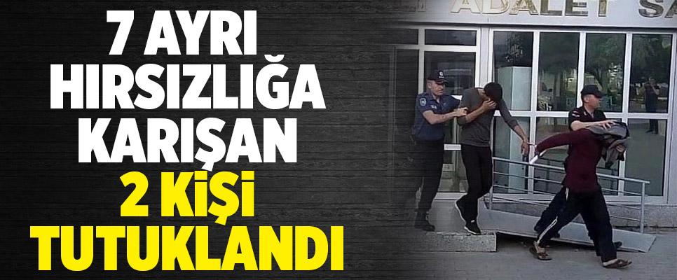 Denizli'de 7 ayrı hırsızlığın 2 şüphelisi tutuklandı