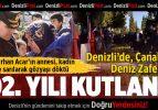 Denizli'de Çanakkale Deniz Zaferi'nin 102'nci yılı kutlandı