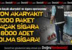 Denizli'de kaçak akaryakıt ve sigara operasyonu