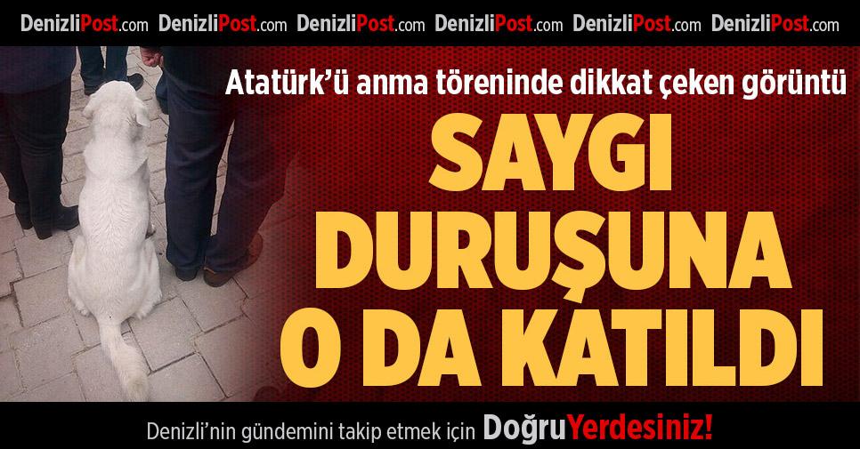 Atatürk'ü Anma Töreninde Dikkat Çeken Görüntü