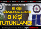 Denizli'de uyuşturucuya 8 tutuklama