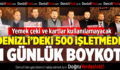 Denizli'deki 500 İşletmede 1 Günlük Boykot
