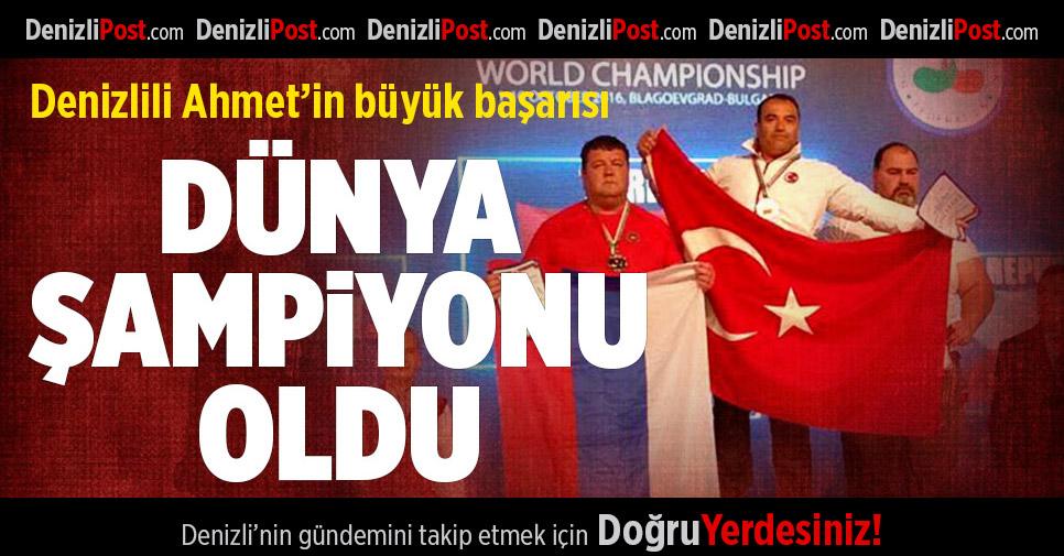 Denizlili Ahmet bilek güreşinde dünya şampiyonu