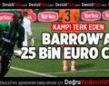 DENİZLİSPOR'DA BARROW'A 25 BİN EURO CEZA