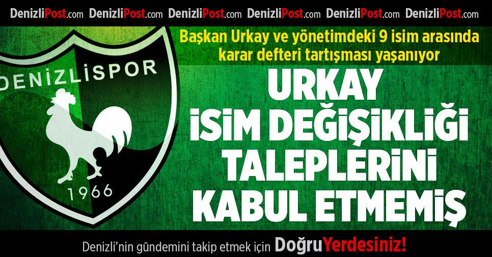 Denizlispor'da isim sponsoru tartışması