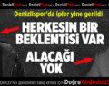 Denizlispor'da ipler yine gerildi