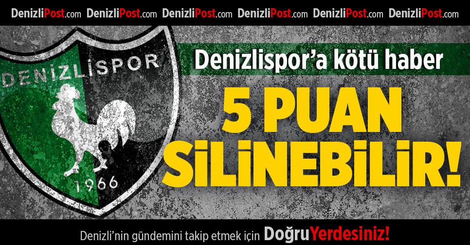 Denizlispor'a kötü haber