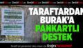 Denizlispor'da Burak'a pankartlı destek