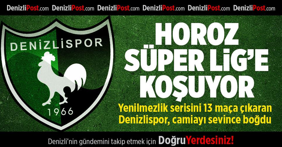 Denizlispor Süper Lig'e koşuyor