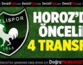 Denizlispor'da öncelik 4 transfer