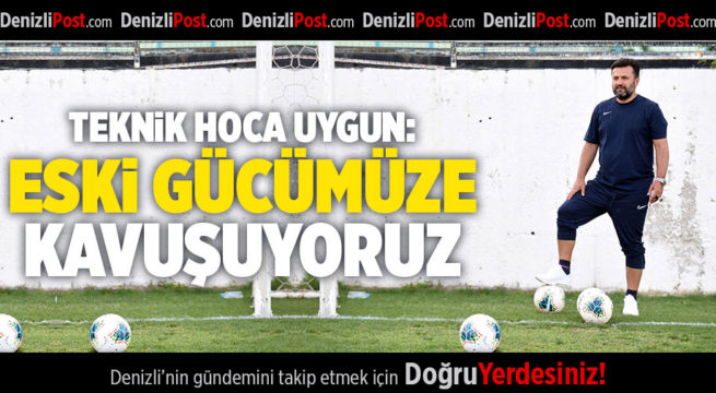 DENİZLİSPOR 'DA ANTRENMALAR DEVAM EDİYOR