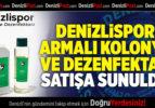 DENİZLİSPOR ARMALI KOLONYA VE DEZENFEKTAN SATIŞA SUNULDU