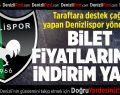 Denizlispor'da taraftara destek çağrısı