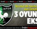Denizlispor deplasmanda Adana'da
