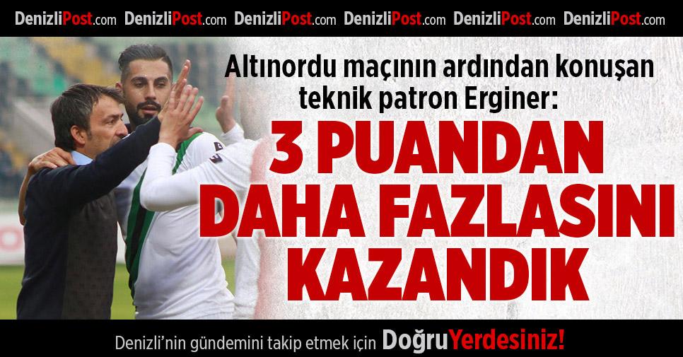 Denizlispor Teknik Patronu Erginer'den Maç Yorumu