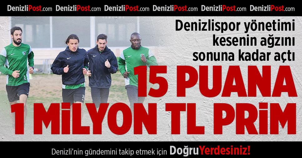 Denizlispor'da 15 puana 1 milyon TL prim