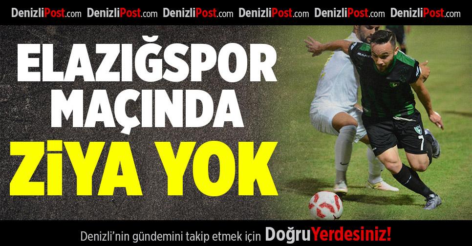 Denizlispor'da Ziya Elazığspor maçında forma giyemeyecek