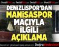Denizlispor'dan sükunet çağrısı
