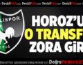 Denizlispor'un O Transferi Zora Girdi