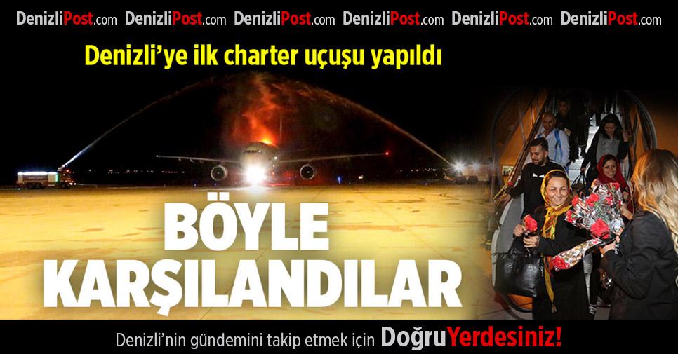 Denizli'ye ilk charter uçak seferi İran'dan