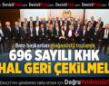 Baro Başkanları Olağanüstü Toplandı