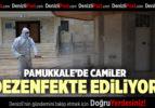 PAMUKKALE'DE CAMİLER DEZENFEKTE EDİLİYOR