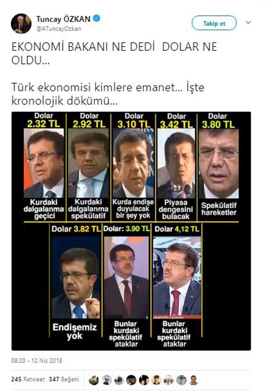 dolar 5 - CHP'li Özkan'dan Dikkat Çeken Bakan Zeybekci Videosu