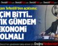 DTB Başkanı Tefenlili: Gündem Ekonomi Olsun