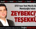 """Zeybekci'ye """"Yeşil Pasaport"""" teşekkürü"""
