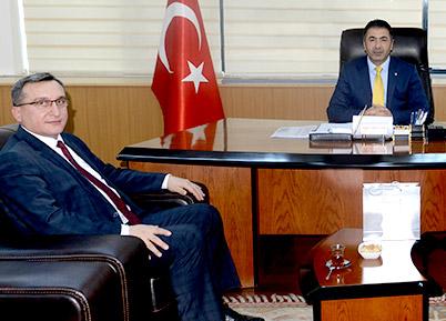 SGK Müdürü Mersin'den DTO'ya ziyaret