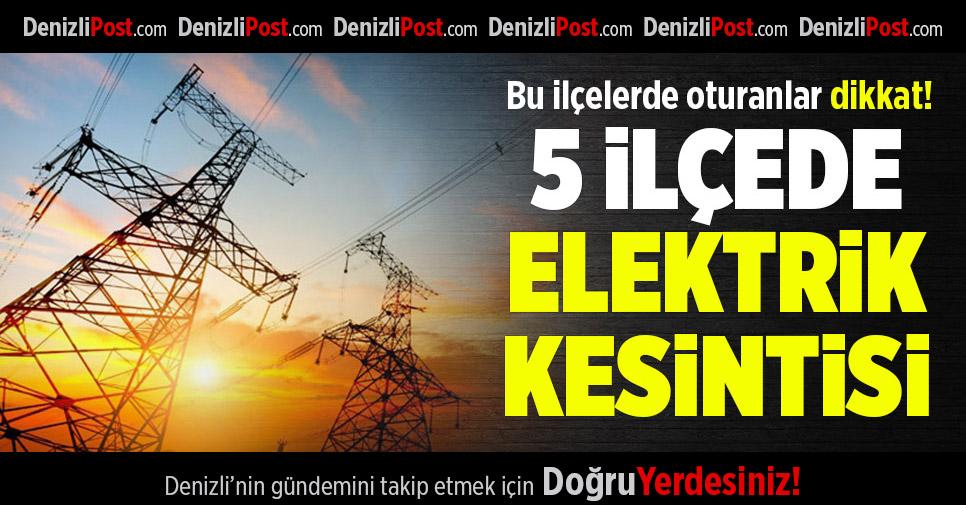 3 ilçede elektrik kesintisi