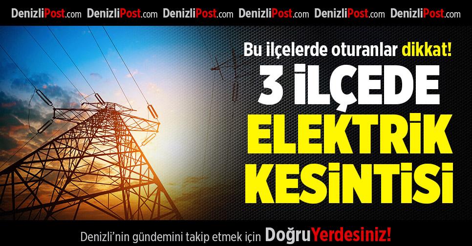3 İlçede Elektrik Kesintisi