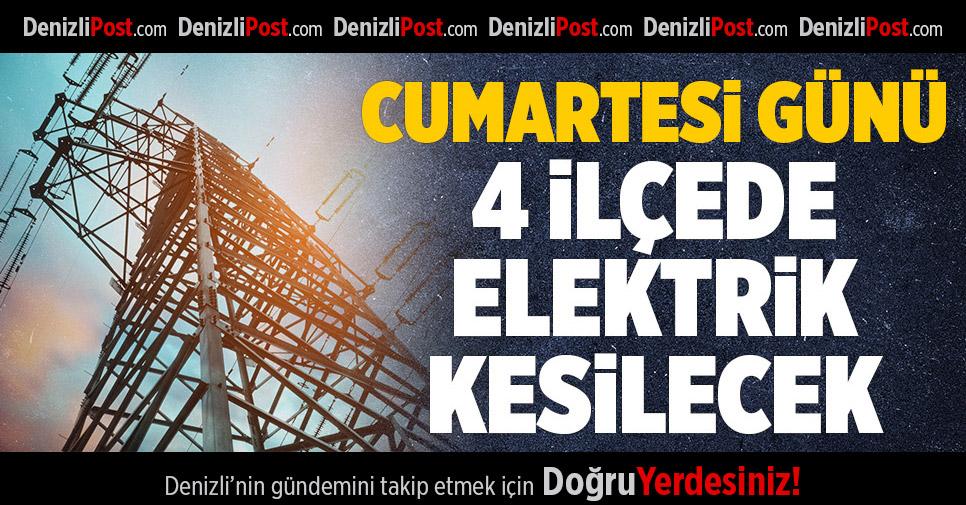 Cumartesi Günü 4 İlçede Elektrik Kesintisi Yapılacak