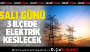 Salı Günü 3 İlçede Elektrik Kesintisi Yapılacak