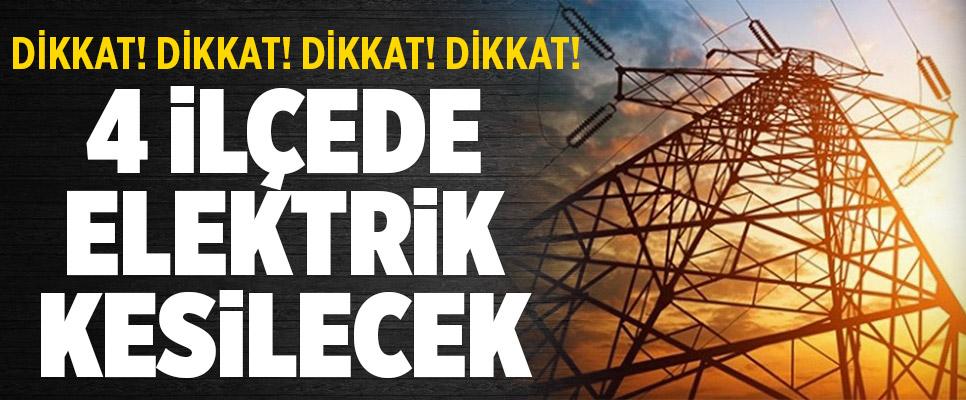 Denizli'nin 4 İlçesinde Elektrik Kesilecek