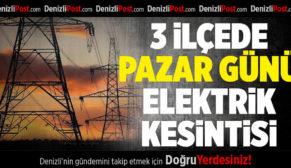 3 İlçede Pazar Günü Elektrik Kesintisi